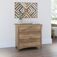 Bush Furniture Salinas Collection Lateral File Cabinet Reclaimed Pine - SAF132RCP-03