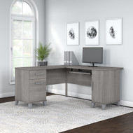 Bush Furniture Somerset 60W L Shaped Desk with Storage - WC81230K