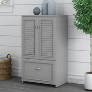 Bush Fairview Collection 2 Door Storage Cabinet with File Drawer Cape Cod Gray - WC53580-03