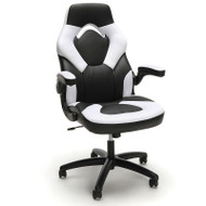 OFM Essentials by OFM Racing Style Leather Gaming Chair White - ESS-3085-WHITE