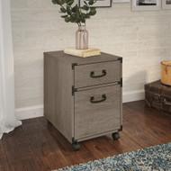 Bush Furniture Ironworks 2-Drawer Mobile File Restored Gray - KI50302-03