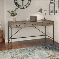 "Bush Furniture Ironworks 60"" Writing Desk Restored Gray - KI50305-03"