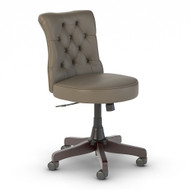 Bush Furniture Salinas Mid Back Tufted Office Chair Washed Gray Leather - SAL009WG