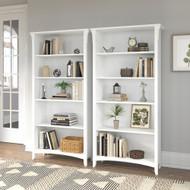 Bush Furniture Salinas Tall 5 Shelf Bookcase - Set of 2 Shiplap Gray - SAL036G2W