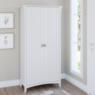 Bush Furniture Salinas Tall Storage Cabinet With Doors Shiplap Gray - SAS332G2W-03