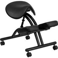 Flash Furniture Ergonomic Kneeling Office Chair with Black Saddle Seat - WL-1421-GG