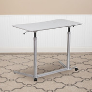 Flash Furniture Sit-to-Stand Gray Desk - NAN-IP-6-1-GG