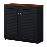Bush Fairview Collection 2 Door Storage Cabinet Antique Black - WC53996-03