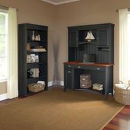 Bush Furniture Fairview Computer Desk w Hutch and Bookcase Antique Black - STF004AB