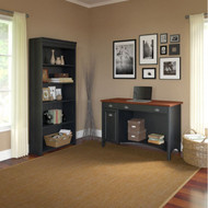 Bush Furniture Fairview Computer Desk and Bookcase Antique Black - STF005
