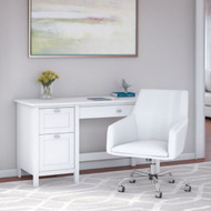 Bush Broadview 54W Computer Desk and Chair Desk White - BD021WH