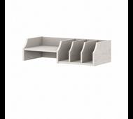Bush Furniture Yorktown Desktop Organizer with Shelves in Linen White Oak- WC40402-Z