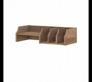 Bush Furniture Yorktown Desktop Organizer with Shelves in Reclaimed Pine - WC40502-Z