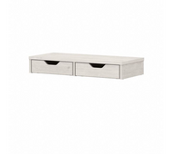 Bush Furniture Yorktown Desktop Organizer with Drawers in Linen White Oak - WC40401-Z