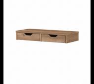Bush Furniture Yorktown Desktop Organizer with Drawers in Reclaimed Pine - WC40501-Z