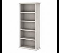 Bush Furniture Yorktown Tall 5 Shelf Bookcase in Linen White Oak - WC40466-03