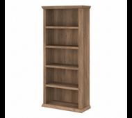 Bush Furniture Yorktown Tall 5 Shelf Bookcase in Reclaimed Pine - WC40566-03