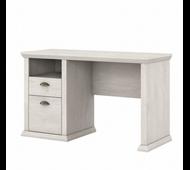 Bush Furniture Yorktown 50W Home Office Desk with Storage in Linen White Oak - WC40423-03