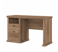 Bush Furniture Yorktown 50W Home Office Desk with Storage in Reclaimed Pine - WC40523-03