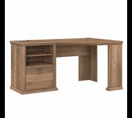 Bush Furniture Yorktown 60W Corner Desk with Storage in Reclaimed Pine - WC40515-03