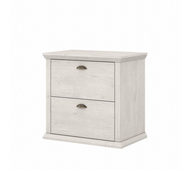 Bush Furniture Yorktown 2 Drawer Lateral File Cabinet in Linen White Oak - WC40480-03