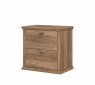 Bush Furniture Yorktown 2 Drawer Lateral File Cabinet in Reclaimed Pine - WC40580-03