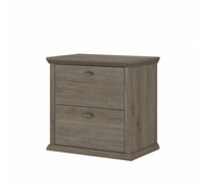 Bush Furniture Yorktown 2 Drawer Lateral File Cabinet in Restored Gray  - WC40680-03