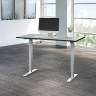 Move 40 Series by Bush Business Furniture 60W x 30D Electric Height Adjustable Standing Desk in White Spectrum - M4S6030WPSK