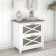 Bush Key West 2 Drawer Lateral File Cabinet Shiplap Gray -KWF130G2W-03