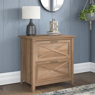 Bush Key West 2 Drawer Lateral File Cabinet Reclaimed Pine  - KWF130RCP-03