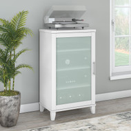 Bush Furniture Somerset Media Accent Cabinet in White - AD81940