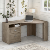 Bush Furniture Wheaton 60W Reversible Corner Desk with Storage in Driftwood Gray - MY72213-03