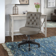 Bush Furniture Key West 48W Writing Desk with Mid Back Tufted Office Chair Washed Gray - KWS021WG