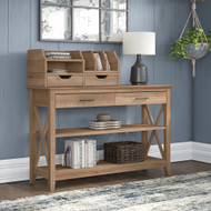 Bush Furniture Key West Console Table with Storage and Desktop Organizers Reclaimed Pine - KWS028RCP