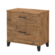 Bush Furniture Somerset 2 Drawer Lateral File Cabinet Fresh Walnut - WC81380