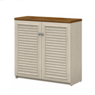 Bush Fairview Collection 2 Door Storage Cabinet Antique White - WC53296-03