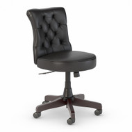 Bush Furniture Salinas Mid Back Tufted Office Chair Black Leather - SAL009BL