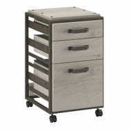 Bush Refinery 3-Drawer Mobile File Cabinet Cottage White - RFF116CWH-03