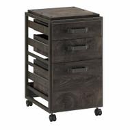 Bush Furniture Refinery 3-Drawer Mobile File Cabinet Dark Gray Hickory - RFF116GH-03
