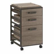 Bush Furniture Refinery 3-Drawer Mobile File Cabinet Restored Gray - RFF116RTG-03