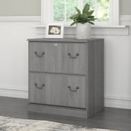Bush Saratoga Collection 2 Drawer Lateral File Cabinet Modern Gray - EX45854-03