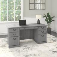 Bush Saratoga Executive Desk With Drawers Modern Gray - EX45866-03K
