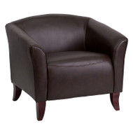 Flash Furniture Imperial Series Brown LeatherSoft Accent Chair - 111-1-BN-GG