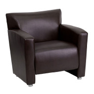 Flash Furniture Majesty Series Brown LeatherSoft Accent Chair - 222-1-BN-GG