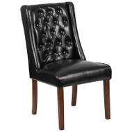 Flash Furniture HERCULES Preston Series Black LeatherSoft Tufted Parsons Chair - QY-A91-BK-GG