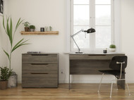 Nexera Arobas 2 Piece Home Office Set, Bark Grey - 403028