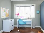 Nexera Arobas 2 Piece Home Office Set, White - 400648
