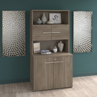 Bush Business Furniture Office 500 Collection 36W Tall Storage Cabinet with Doors and Shelves Modern Hickory - OF5008MHSU