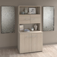 Bush Business Furniture Office 500 Collection 36W Tall Storage Cabinet with Doors and Shelves Sand Oak - OF5008SOSU