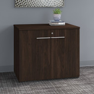 "Bush Business Furniture Office 500 36"" Storage Cabinet with Doors Assembled Black Walnut - OFS136BWSU"